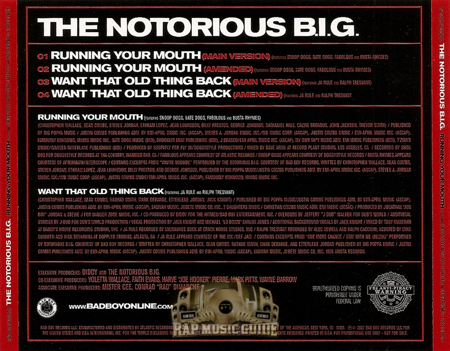 Running Your Mouth Notorious 32