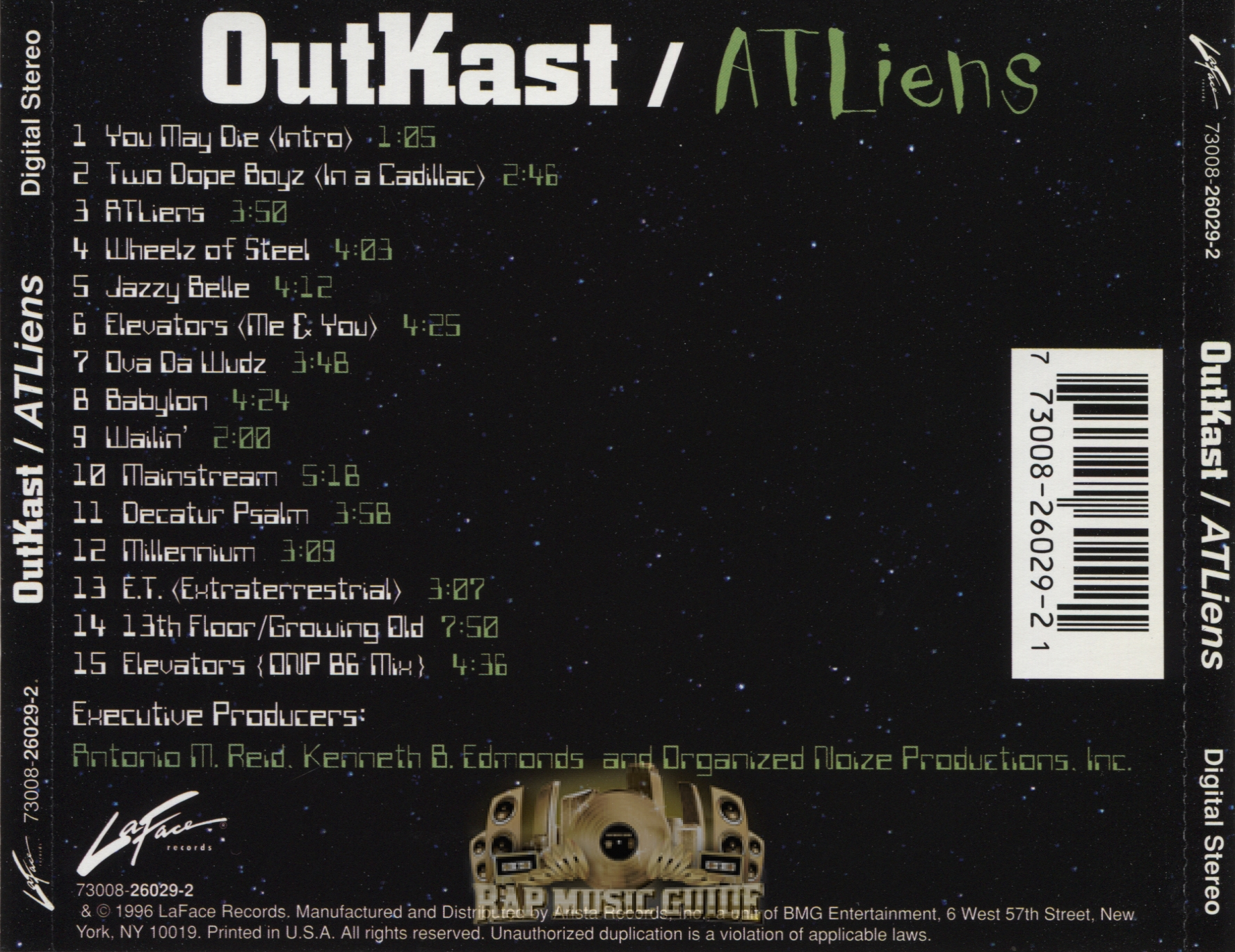 Outkast atliens cds rap music guide for 13th floor growing old