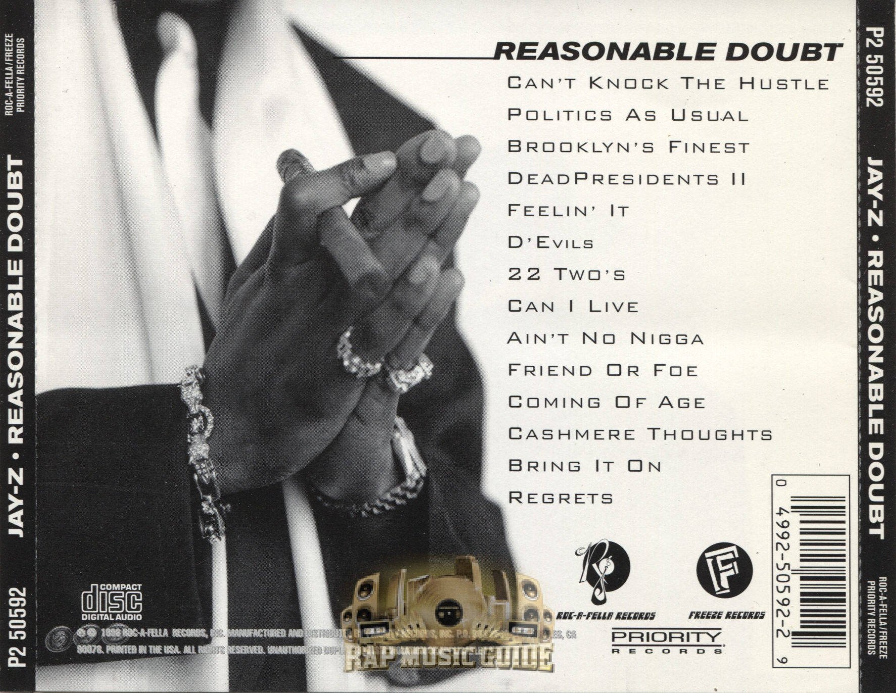 a review of the best album of jay z entitled reasonable doubt How jay-z must wish it were 1996 now, the year he released reasonable doubt without the weight of the world on his shoulders no major rapper can release an album in such a vacuum in 2017, and in.
