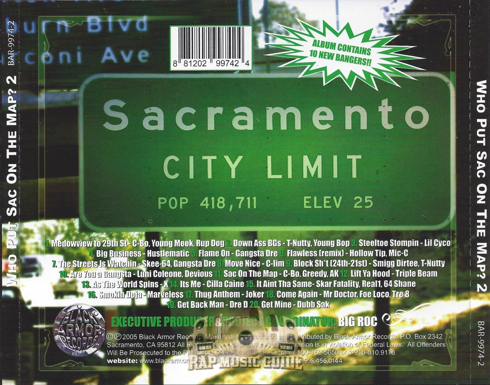 who put sac on the map who put sac on the map 2 re release