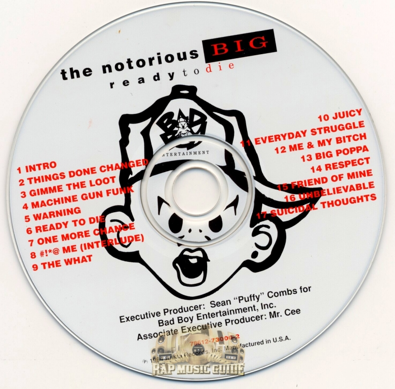 Notorious B I G  - Ready To Die: 1st Press  CD   Rap Music Guide
