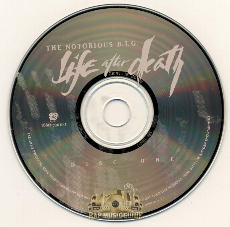 Notorious B I G  - Life After Death: 1st Press  CD