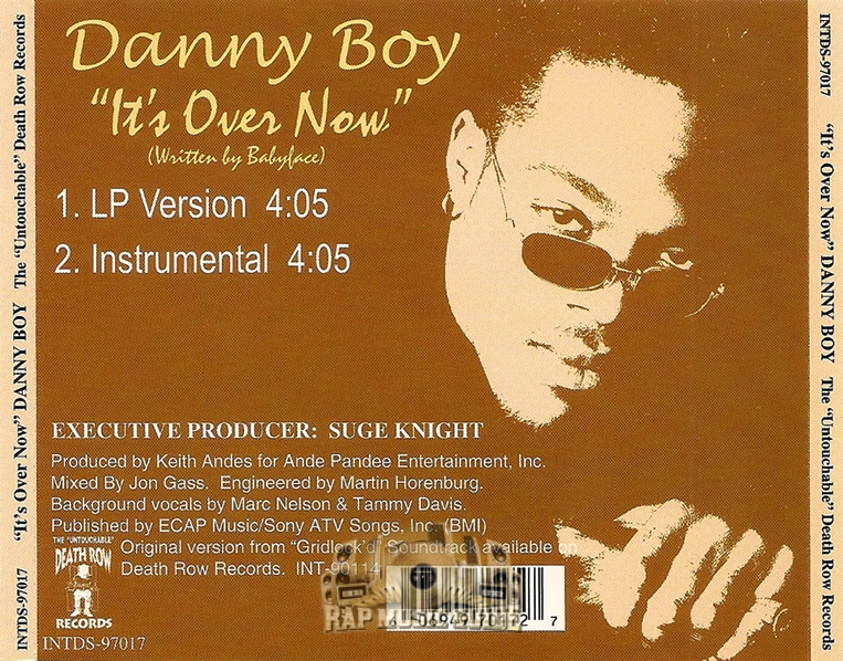 Danny Boy - It's Over Now: Single  CD | Rap Music Guide