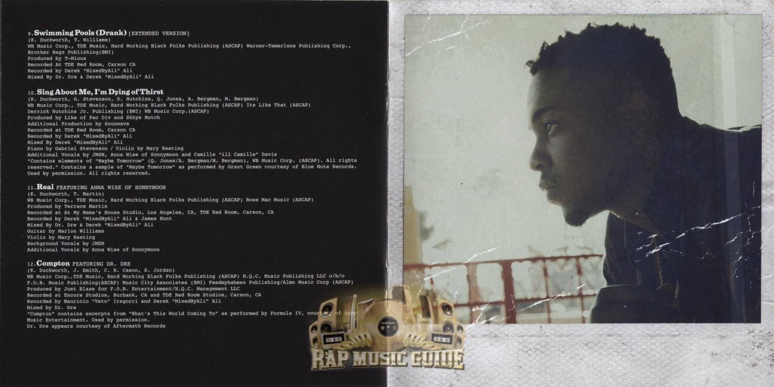 Kendrick Lamar Good Kid M A A D City Cd Rap Music Guide