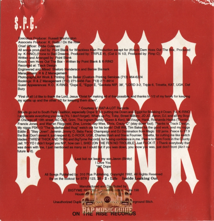 Point Blank - Prone To Bad Dreams: 1st Press  CD | Rap Music