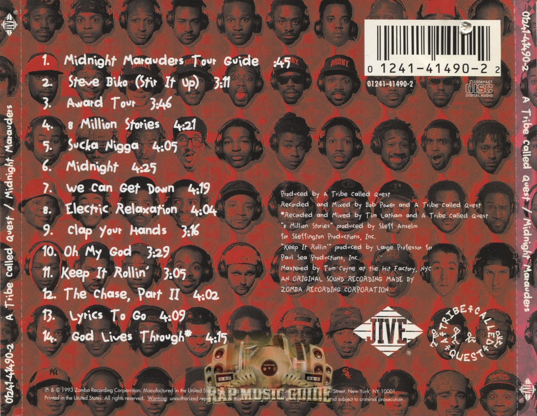 a tribe called quest midnight marauders cd rap music