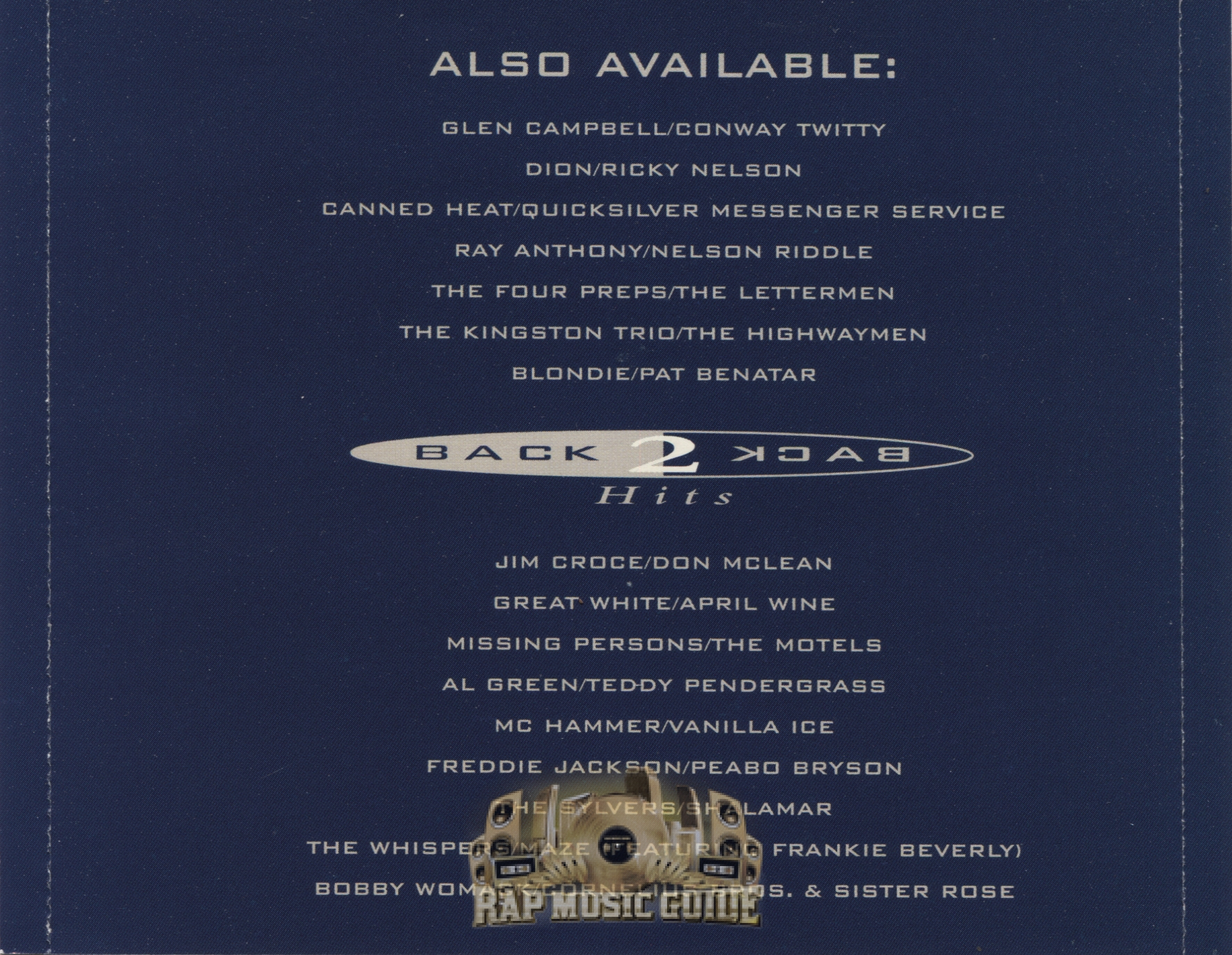 MC Hammer & Vanilla Ice - Back 2 Back Hits: CD | Rap Music ...