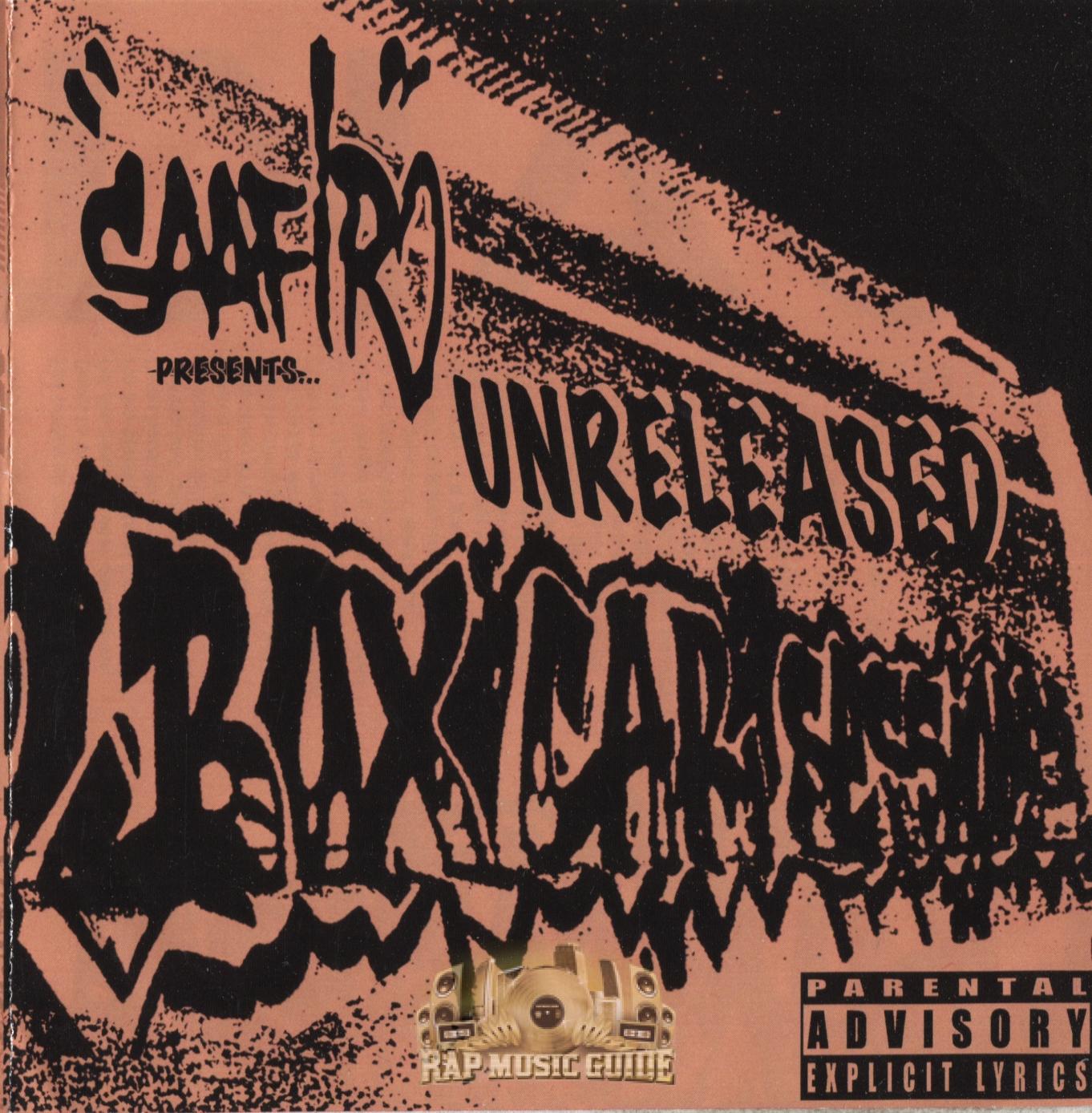 Saafir - Unreleased Boxcar Sessions: 1st Press, CD-R  CD   Rap Music