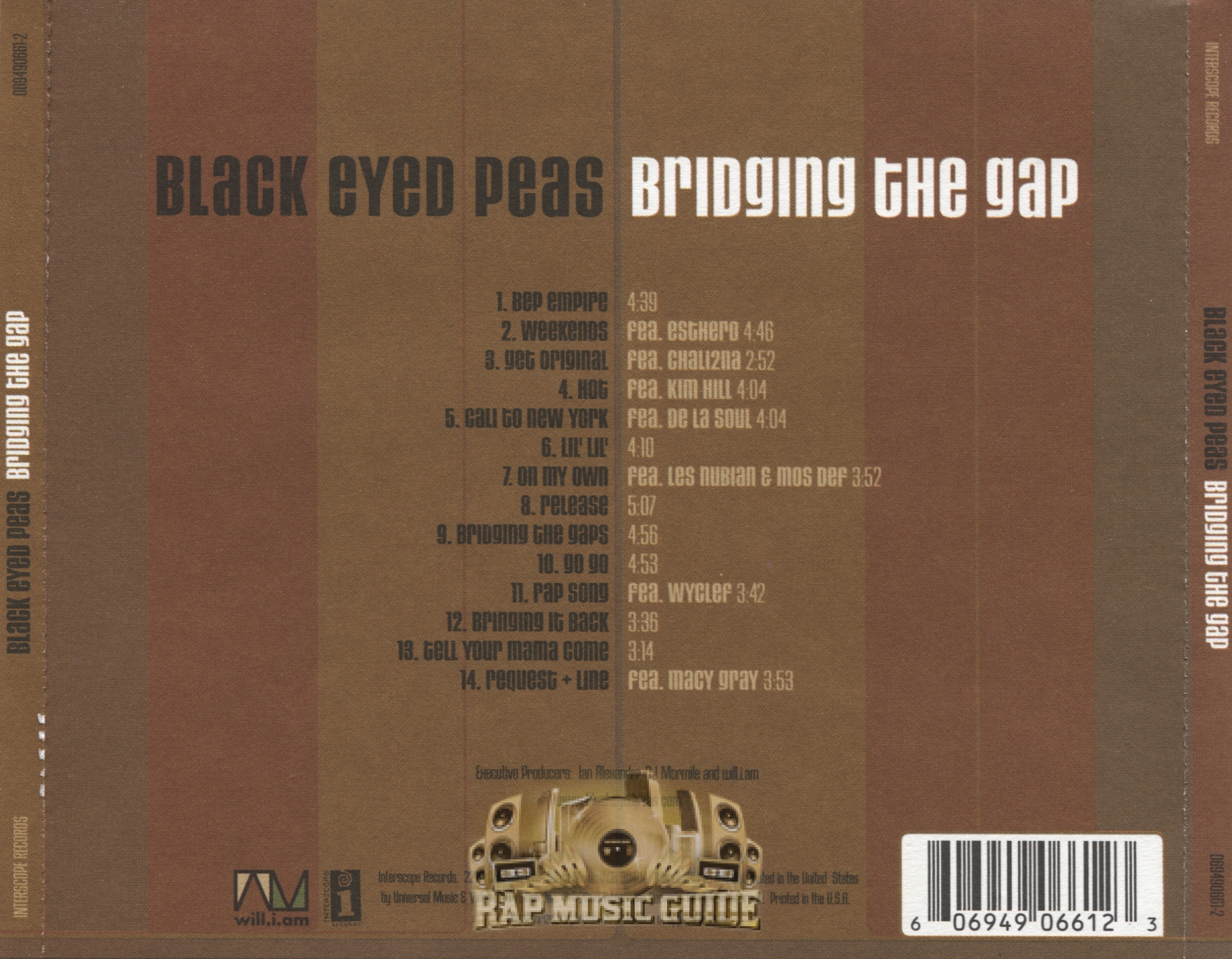 Black Eyed Peas - Bridging The Gap: CD | Rap Music Guide
