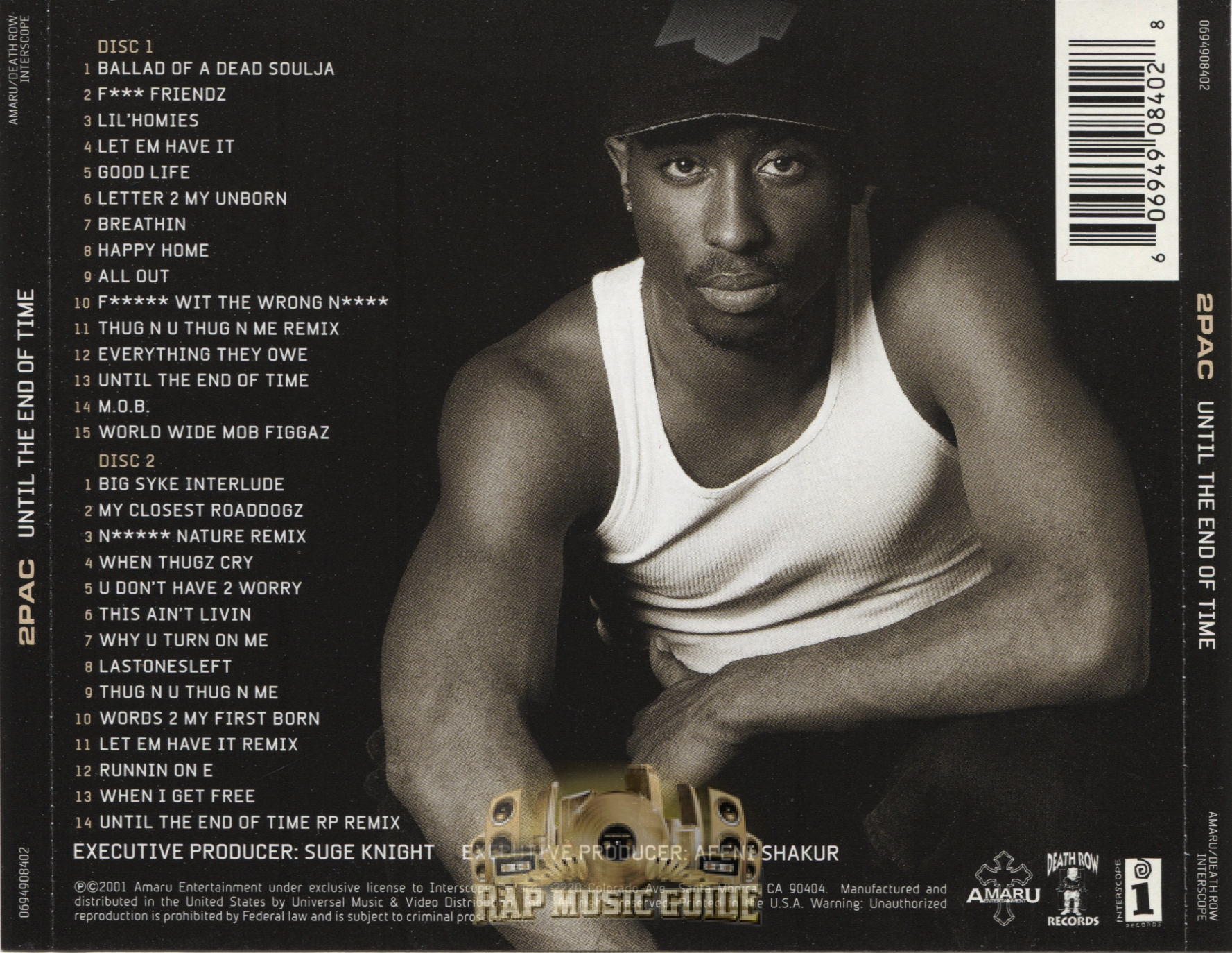 2Pac - Until The End Of Time: CD | Rap Music Guide