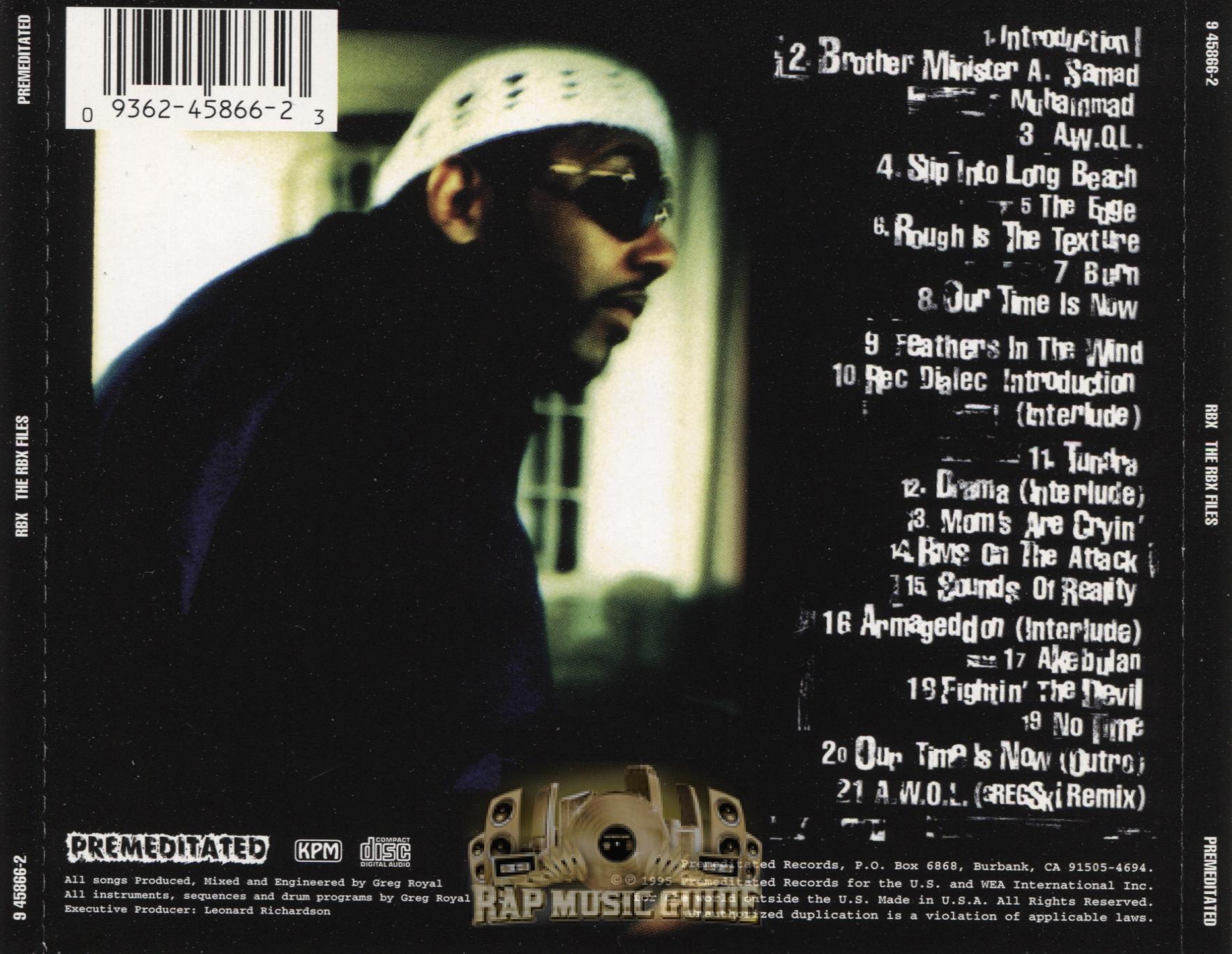 b16da0e5582 RBX - The RBX Files  CD