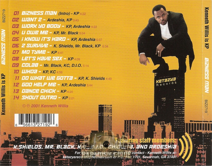 Kenneth Willis Is KP - Bizness Man: CD | Rap Music Guide