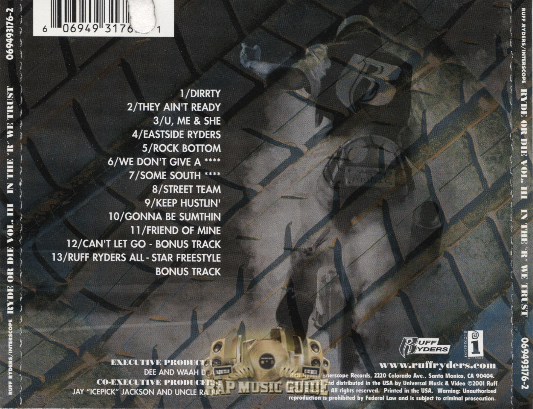 Ruff Ryders - Ryde Or Die Vol  3: In The
