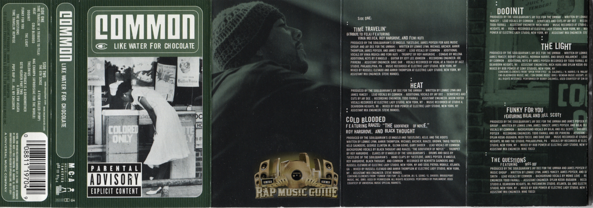 Common - Like Water For Chocolate: Cassette Tape | Rap Music Guide
