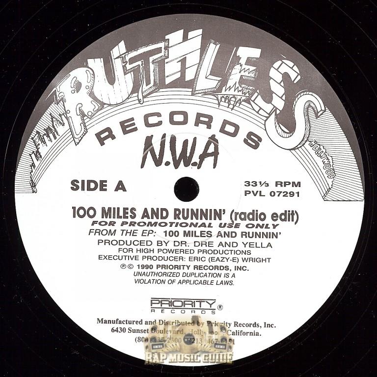 N W A 100 Miles And Runnin Radio Edit Single Record