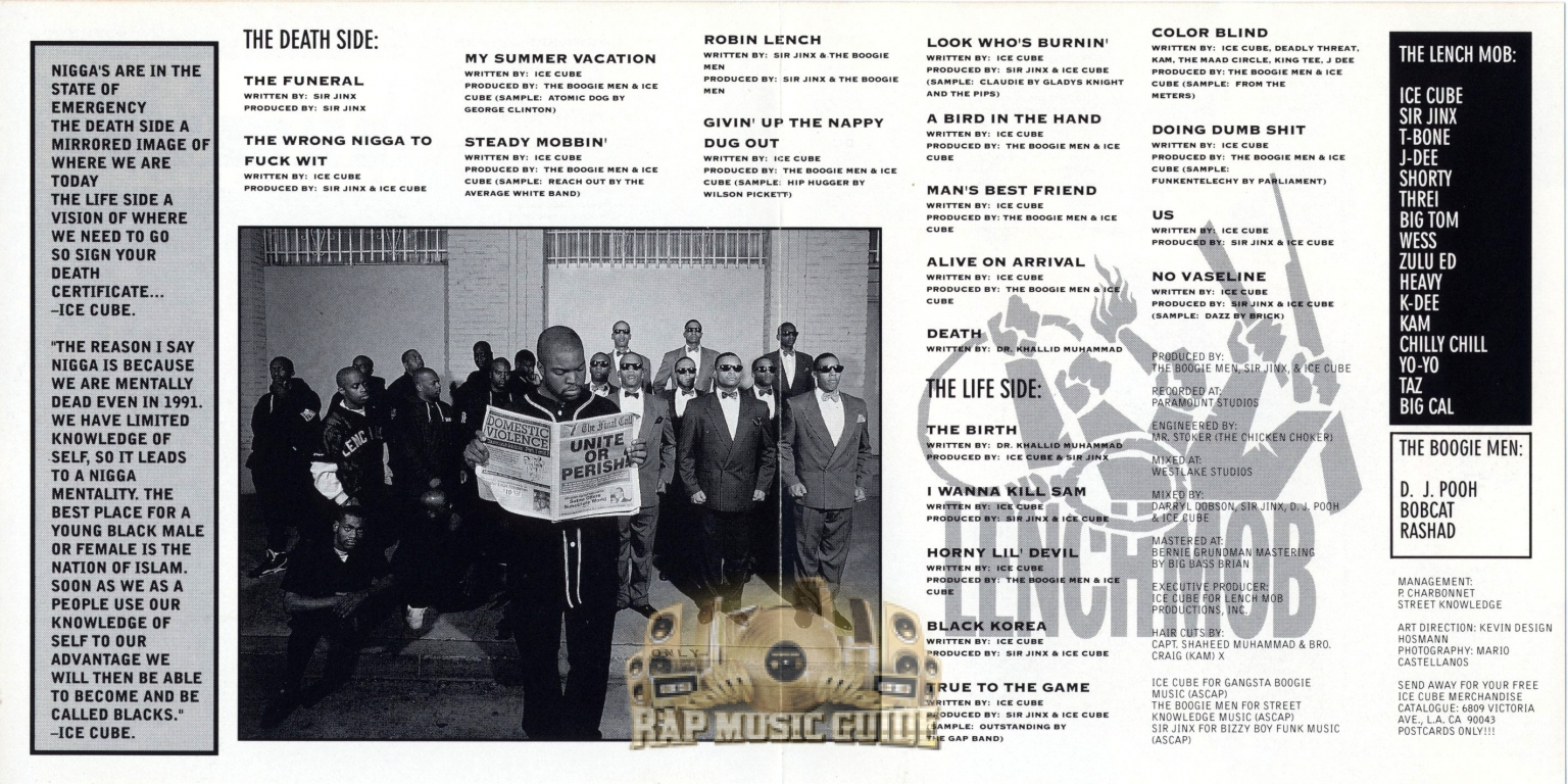 Ice cube death certificate 1st press cd rap music guide additional artwork 1betcityfo Choice Image