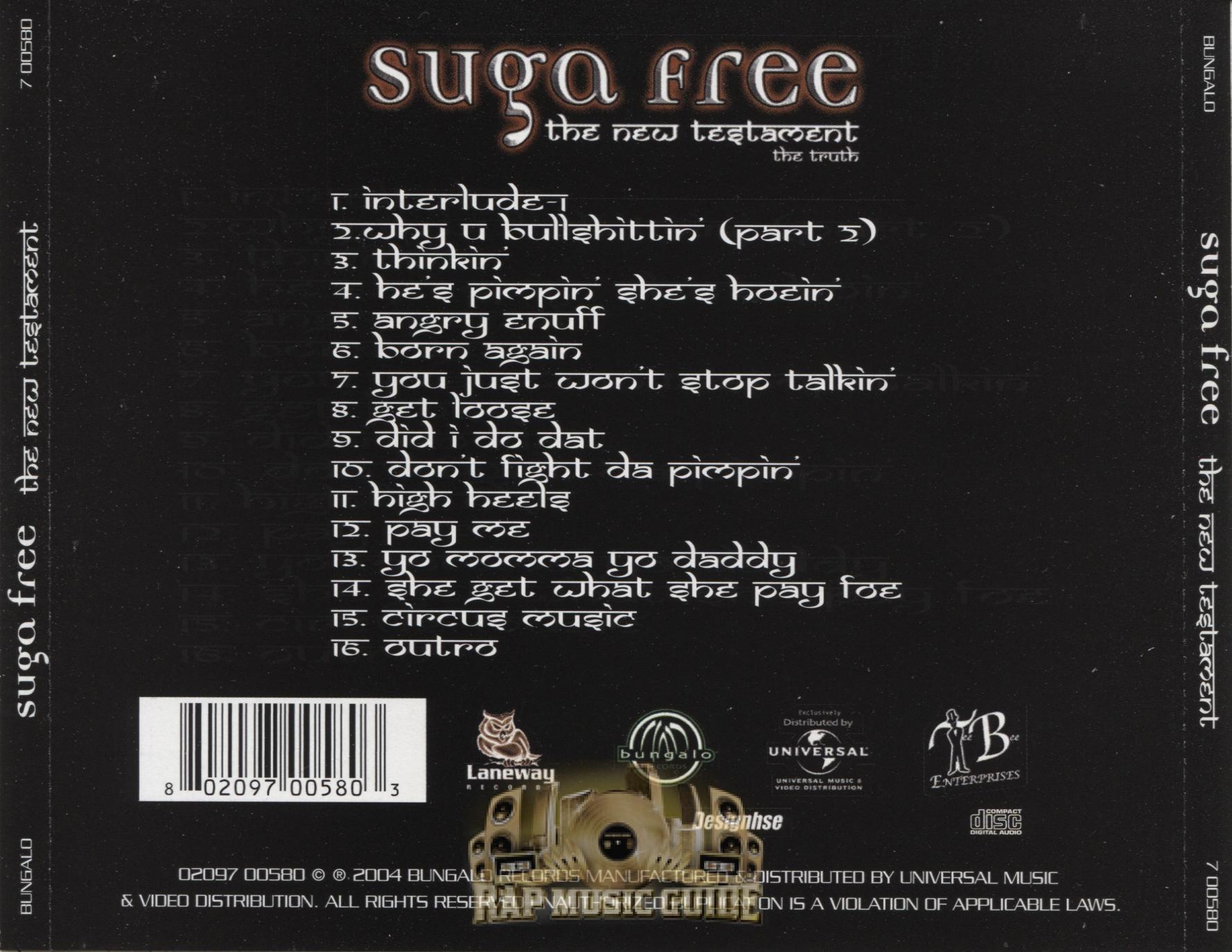 Suga Free - The New Testament The Truth: CD   Rap Music Guide