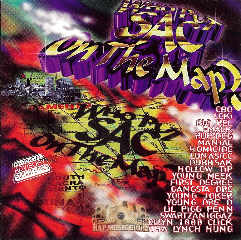 who put sac on the map who put sac on the map cd rap music
