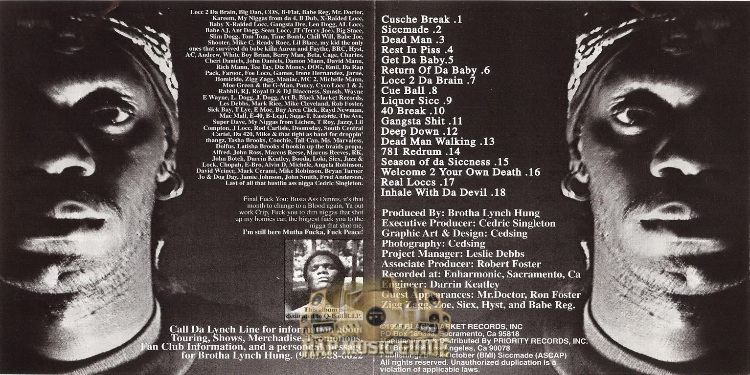 Brotha Lynch Hung - Season Of Da Siccness: 2nd Press  CD