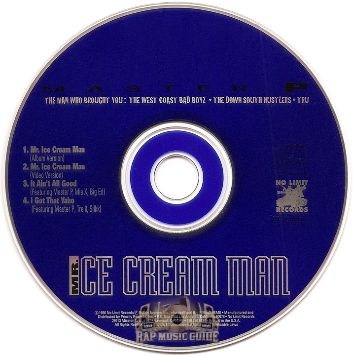 Master P - Mr. Ice Cream Man: Single. CD | Rap Music Guide