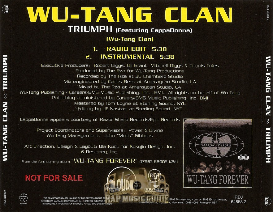"an analysis of the triumph by wu tang clan Parv's guide to the wu-tang clan: part 1 ""triumph"" and ""protect ya neck wu-tang clan: big baby jesus."