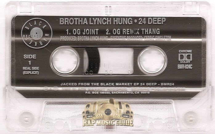 Brotha Lynch Hung 24 Deep Single Cassette Tape Rap