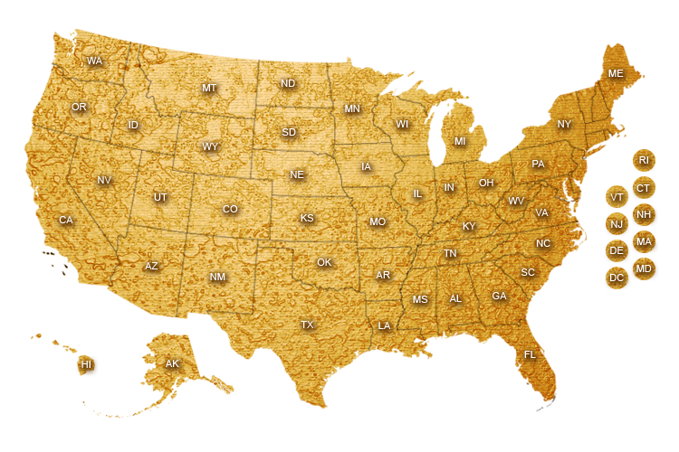 The Rap Map Of The USA Rap Music Guide - Map of the usa