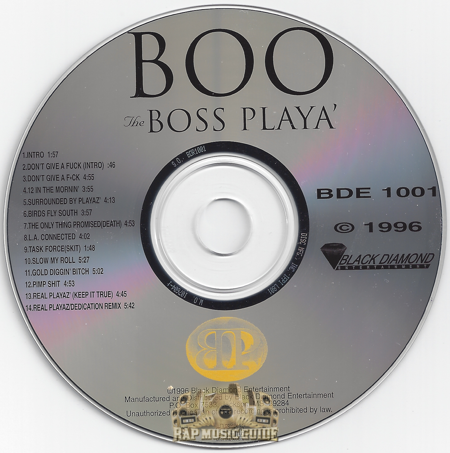 Boo The Boss Player cd og