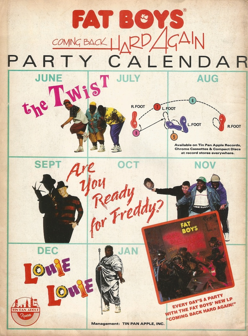 Fat Boys Party Calendar