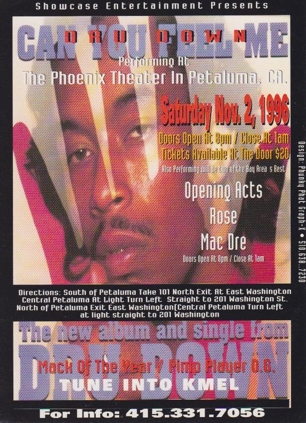 Dru Down can you feel me promo Dru Down Flyer by Phunky Phat Graph X