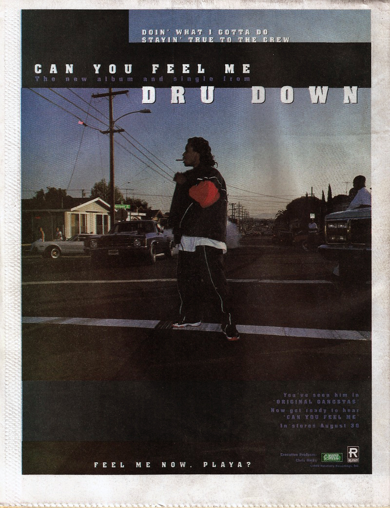 Dru Down Can You Feel Me magazine ad