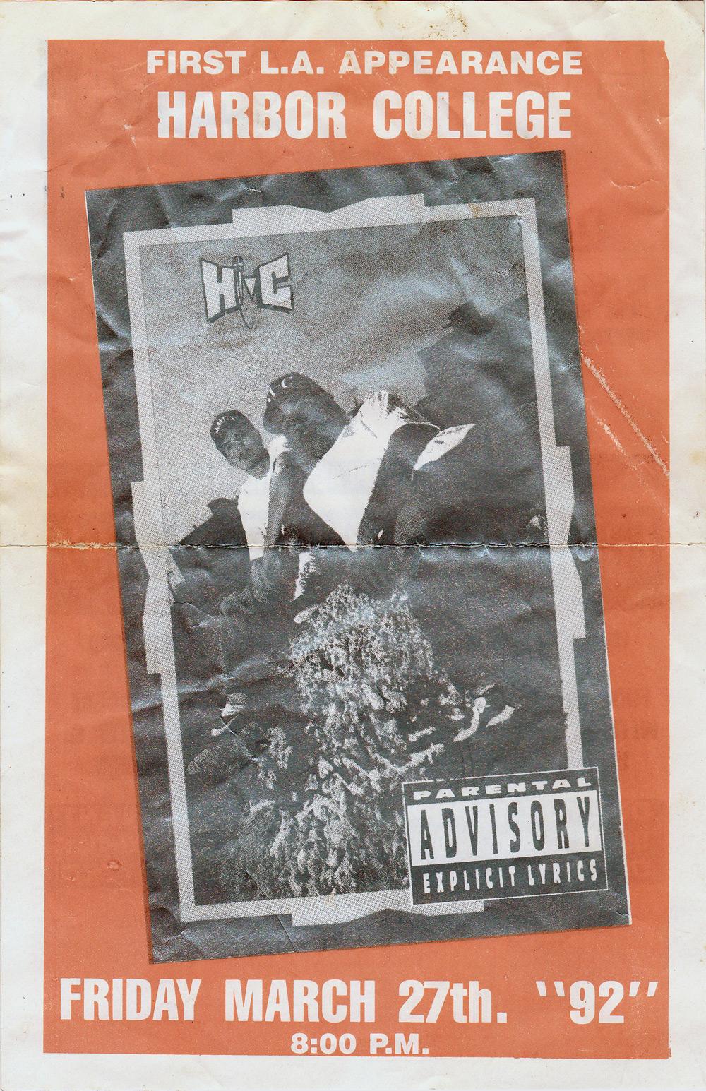 Hi-C & Tony A. First L.A. Concert Poster