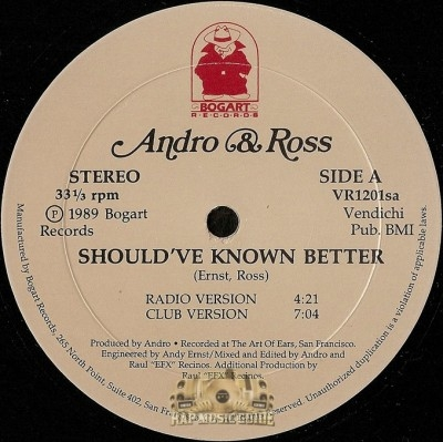 Andro & Ross - Should've Known Better / You're My Girl