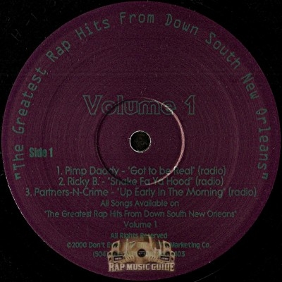 Various Artists - The Greatest Rap Hits From Down South New Orleans