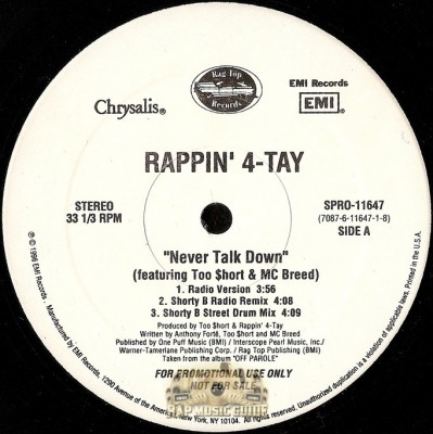 Rappin' 4-Tay - Never Talk Down
