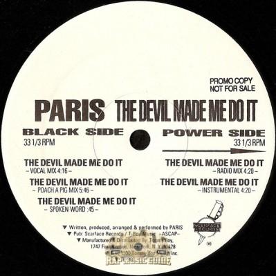 Paris - The Devil Made Me Do It