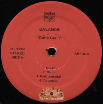 Balance - Gotta Get It/Club Talk