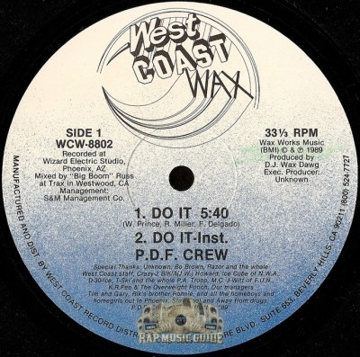 P.D.F. Crew - Do It / Drop The Bass
