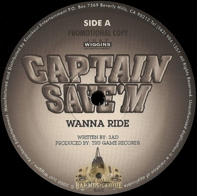 Captain Save'm - Wanna Ride / Money To Be Made