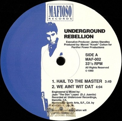 Underground Rebellion - Hail To The Master