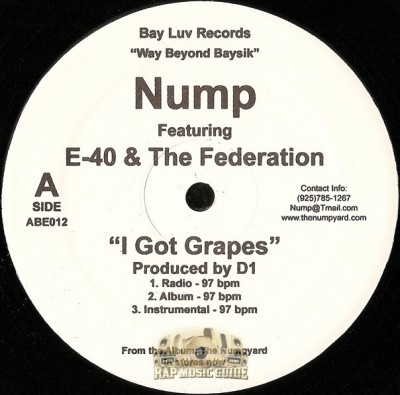 Nump / Gorillapits - I Got Grapes / Scrapin