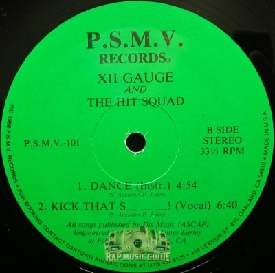 XII Gauge & The Hit Squad - Dance / Who Done It? / Kick That