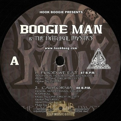 Boogie Man & The Natural Mystics - Self Titled EP