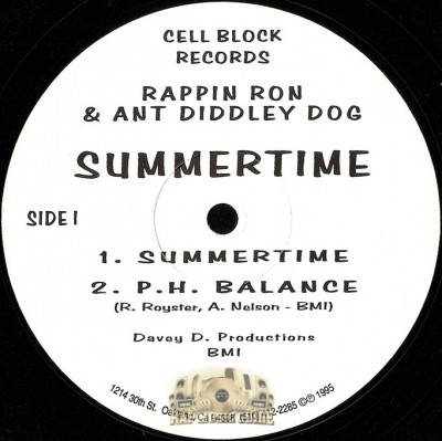 Rappin' Ron & Ant Diddley Dog - Summertime / PH Balance