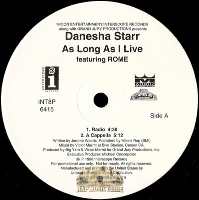 Danesha Starr - As Long As I Live