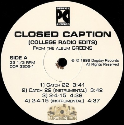 Closed Caption - Greens (College Radio Edits)