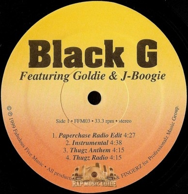 Black G - Paperchase / Thugz Anthem / Gangsta Boogie