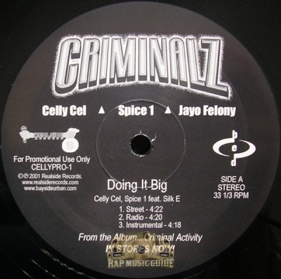 Criminalz - Doing It Big