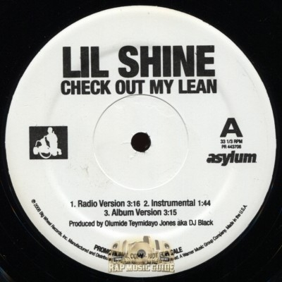 Lil Shine - Check Out My Lean