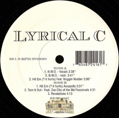 Lyrical C - New World Order